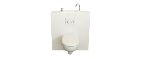 WiCi Next, WC suspendu Geberit compact avec lave main