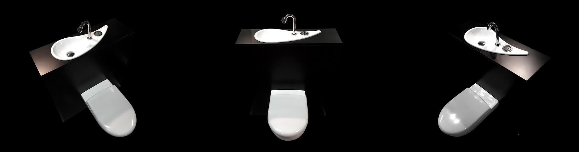WiCi Free Flush, WC suspendu Geberit avec lave-main design