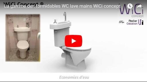 La gamme des formidables WC lave mains WiCi Concept