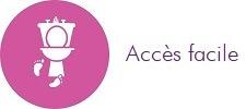 Avantage accès facile